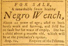 "Slave advertisement - ""At the Purchaser's Option"""